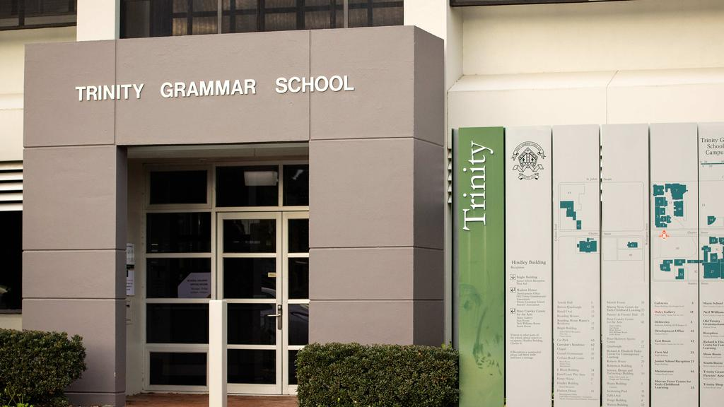 Trinity Grammar in Kew has reported a positive Covid case. Picture: Mark Stewart