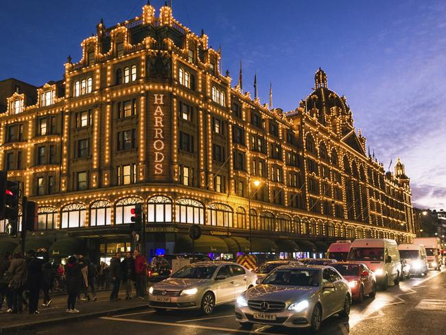 The car attracted crowds of tourists outside Harrods in London. Picture: Supplied.