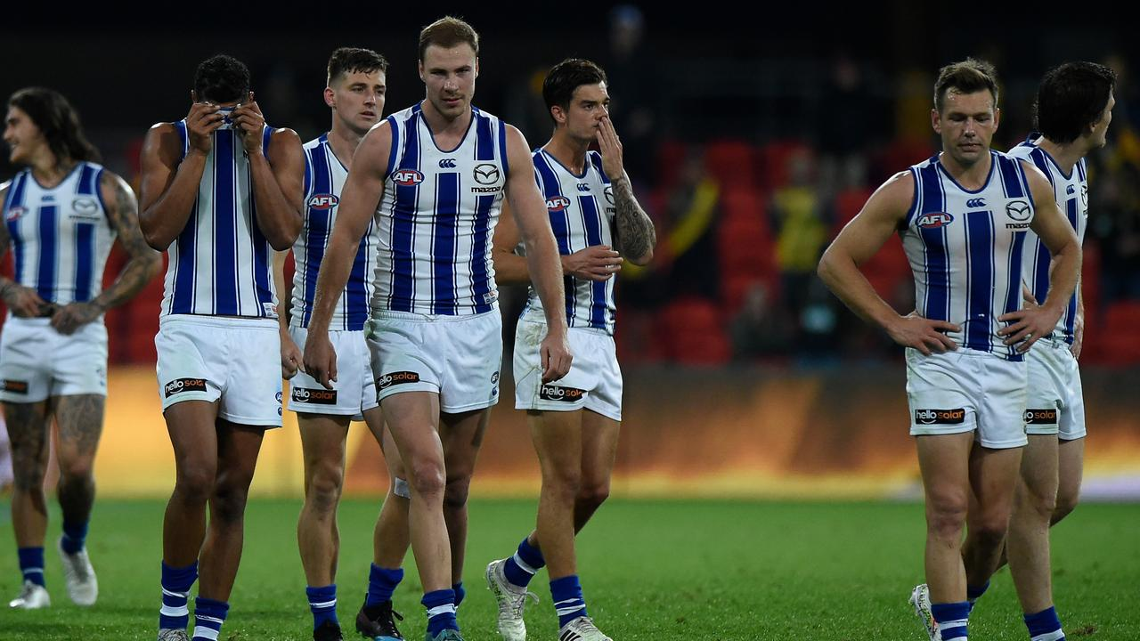 North Melbourne had no answers for a dominant Richmond (Photo by Matt Roberts/AFL Photos/via Getty Images).