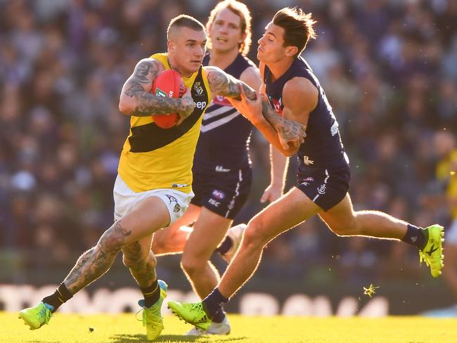 Dustin Martin. (Photo by Daniel Carson/AFL Media/Getty Images)