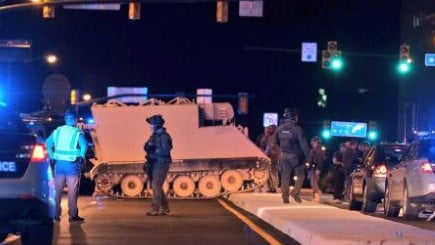 The stolen tank was taken on a joy ride in Richmond, Virginia. Picture: Facebook