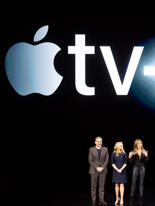Apple TV+ launched last month. Picture: Noah Berger/AFP