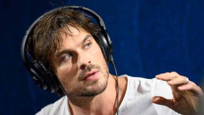 Ian Somerhalder on-air on SiriusXM this week. Picture: Emma McIntyre/Getty Images for SiriusXM