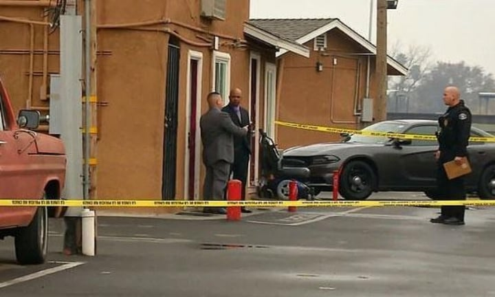 Investigators at the Virginia Motor Lodge Motel, where Langdon had been staying with her sons Source: ABC 30