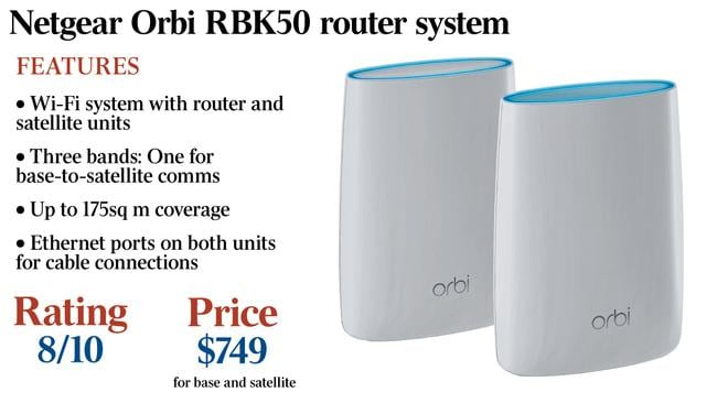 Review: Netgear Orbi RBK50 a good fix for internet dead spot