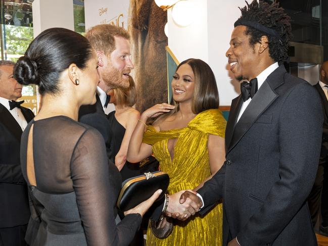 Harry and Meghan shared parenting stories with Beyonce and Jay-Z. Picture: Niklas Halle'n-WPA Pool/Getty Images