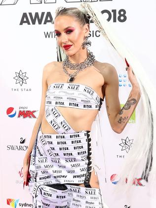 Courter of red carpet controversy, Imogen Anthony, isn't shying away from the cameras. Picture: Getty