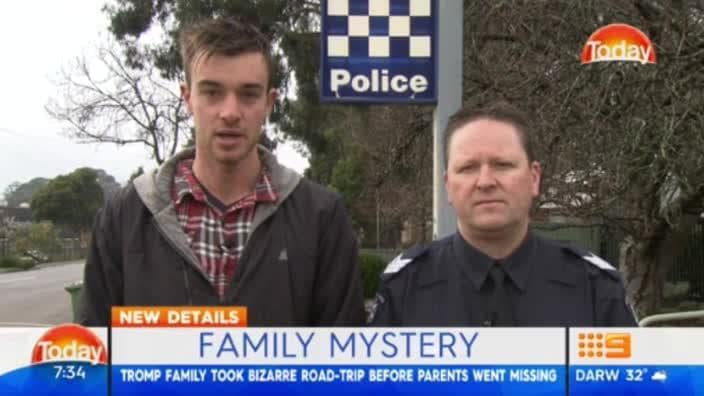 Son of missing man, Mark Tromp speaks to The TODAY Show