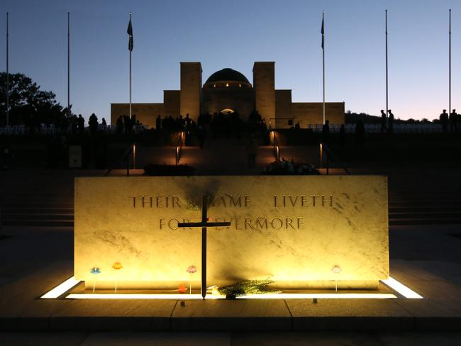 About 55,000 congregated at the Australian War Memorial in Canberra to commemorate the 101st landing of the Australian and New Zealand forces at Gallipoli. Picture Kym Smith