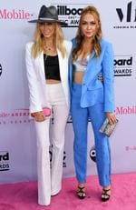Tish Cyrus and Brandi Cyrus attends the 2017 Billboard Music Awards at T-Mobile Arena on May 21, 2017 in Las Vegas, Nevada. Picture: AFP