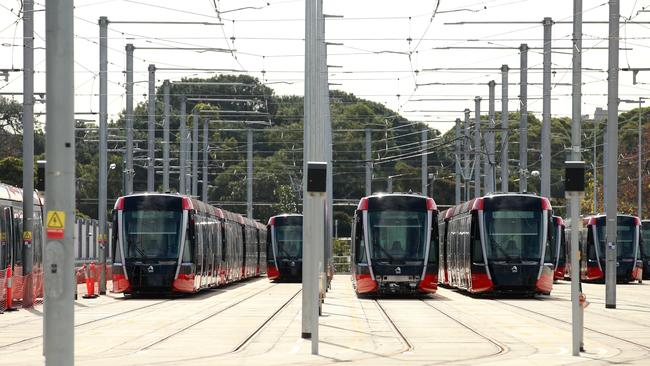 A fleet of trams will be ready to take passengers next month. Picture: Sam Ruttyn