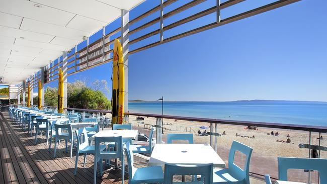 The view from the current Noosa Heads Surf Life Saving Club on Hastings St, Noosa.