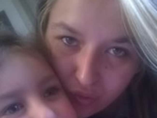 Brittany Shanice Harvie with her daughter.