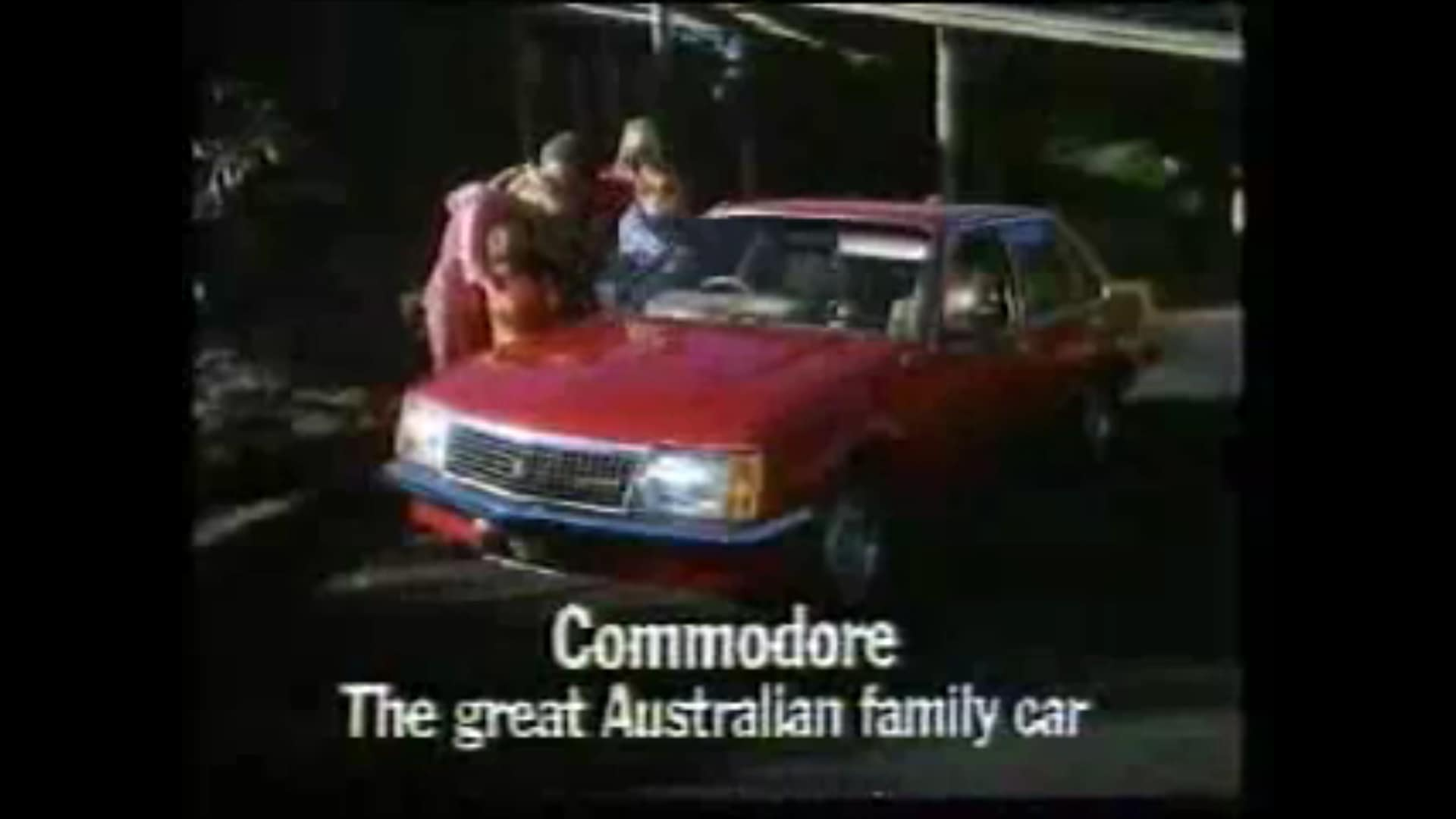 Holden Commodore ad from the 1980s