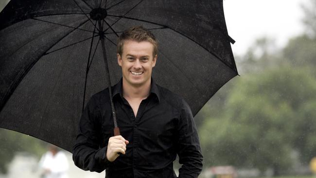 Stormy times ... Grant Denyer was the weather presenter on Seven's Sunrise.