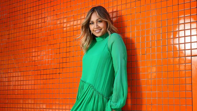 Jessica Mauboy pictured in Sydney ahead of her announcement as the Australian representative for Eurovision 2018. Picture: Richard Dobson