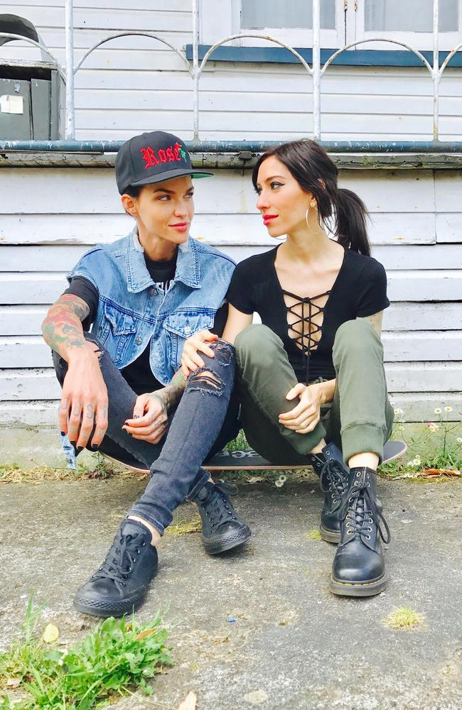 Ruby Rose and Jessica Origliasso of the Veronicas fell back in love on the set of the On Your Side video. Picture: Supplied