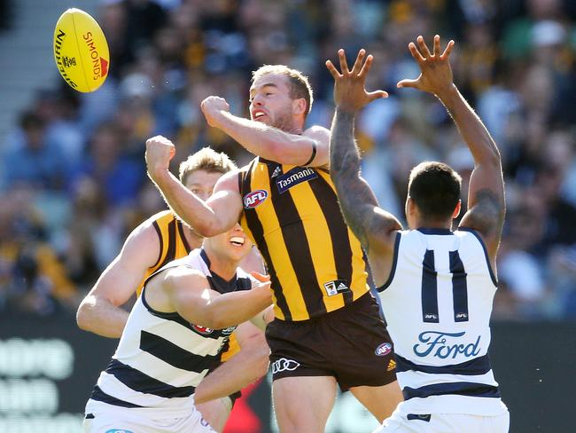 Hawthorn's Tom Mitchell has already racked up 94 disposals in 2018. Picture: Michael Klein