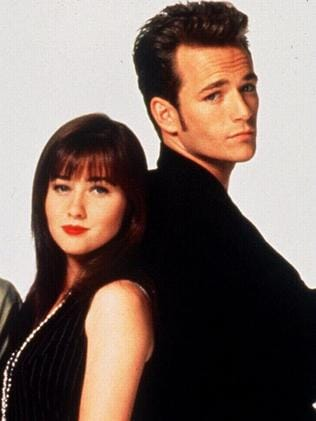 Shannen Doherty and Luke Perry in Beverly Hills 90210. Picture: Supplied
