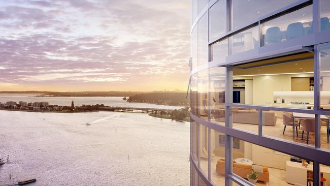 Elizabeth Quay apartment views. Picture: Supplied