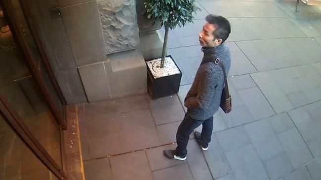 The alleged thief outside the store. Picture: NSW Police