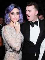 Katy Perry and Sam Smith attend Universal Music Group 2015 Grammy After Party. Picture: Splash