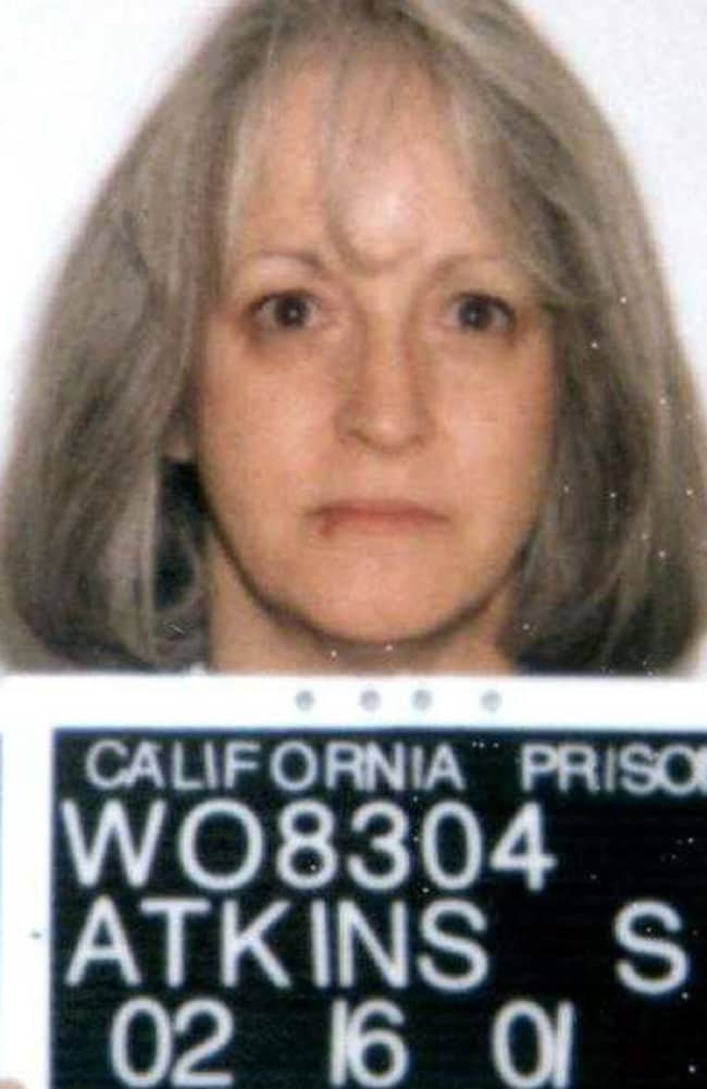 Atkins, who stabbed pregnant actress Sharon Tate through the stomach and tasted her blood, was refused compassionate release and died from brain cancer in prison. Picture: California Dpt of Corrections.