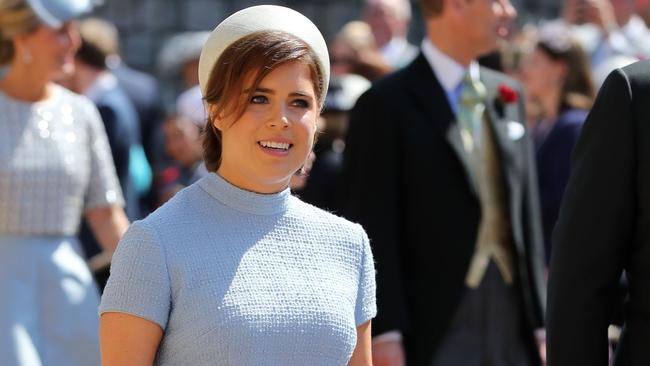 Princess Eugenie of York arrives for the wedding ceremony of Prince Harry, Duke of Sussex and US actress Meghan Markle at St George's Chapel on May 19. Picture: Gareth Fuller/AFP