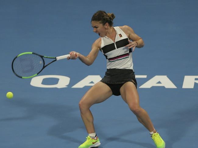Simona Halep overcame a tough challenge to reach the third round.