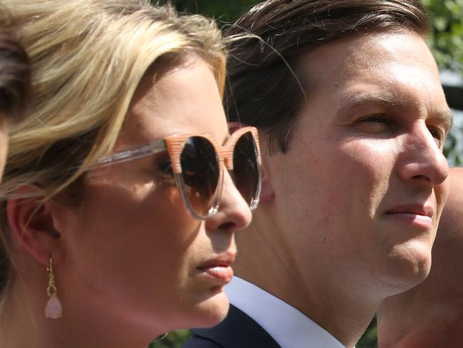 Ivanka Trump and Jared Kushner are also reported to be Deutsche clients. Picture: AFP/Tasos Katopodis