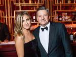 Jennifer Aniston and Netflix Chief Content Officer, Ted Sarandos attend the Netflix Golden Globes after party at Waldorf Astoria Beverly Hills on January 7, 2018 in Beverly Hills, California. Picture: Getty