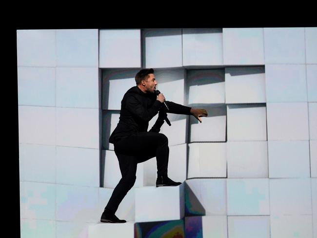 Sergey Lazarev representing Russia perform at Eurovision. Picture: AFP