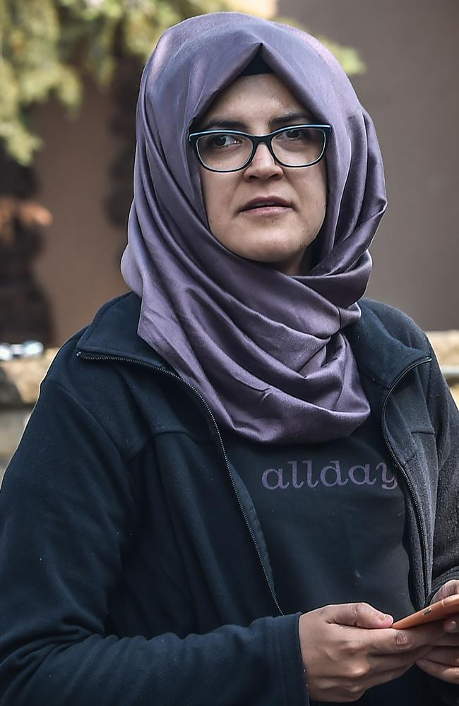 Jamal Khashoggi's fiancee Hatice is still waiting for answers. Picture: AFP