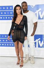 Kanye West and Kim Kardashian West attend the 2016 MTV Video Music Awards at Madison Square Garden on August 28, 2016 in New York City. Picture: Getty