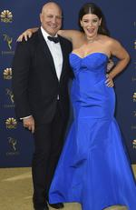 Tom Colicchio, left, and Gail Simmons arrive at the 70th Primetime Emmy Awards on Monday, Sept. 17, 2018, at the Microsoft Theater in Los Angeles. (Photo by Jordan Strauss/Invision/AP)