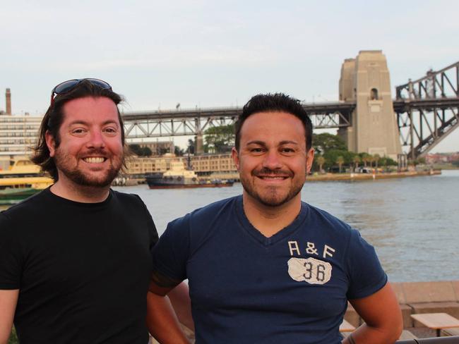 David and Marco Bulmer-Rizzi on the Sydney leg of their Australian trip.