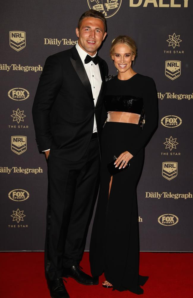 Sam and Phoebe were one of the NRL's power couples. Picture: Ryan Pierse / Getty Images.