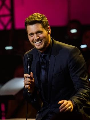Michael Buble also offered his talent for the concert. Picture: Joerg Koch