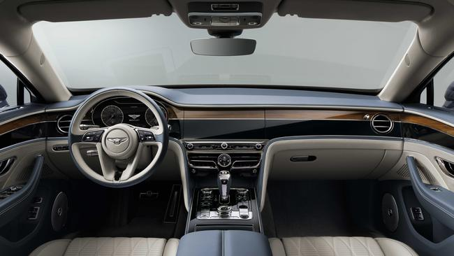 The Flying Spur has a palatial interior.