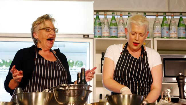 The mother and daughter cooked together at the Noosa Food and Wine Festival in 2011. Picture: Megan Slade.
