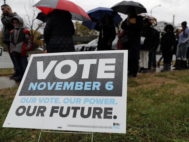 Democrats and Republicans are imploring supporters to get out and vote. Picture: AP