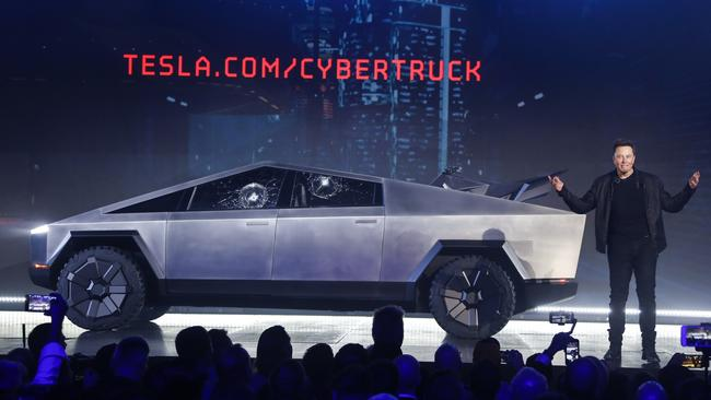 Elon Musk revealed the Tesla Cybertruck, an electric ute, on Friday. (AP Photo/Ringo H.W. Chiu, File)