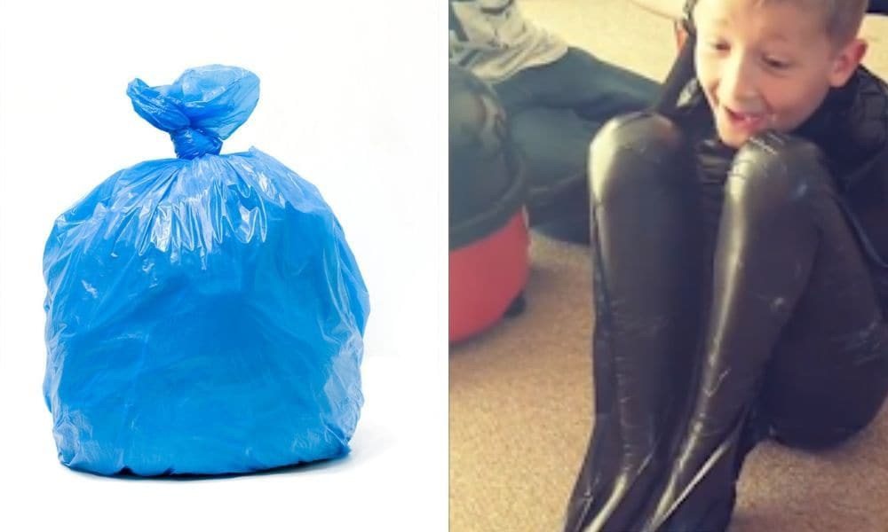 Why kids should not do the bin bag vacuum challenge