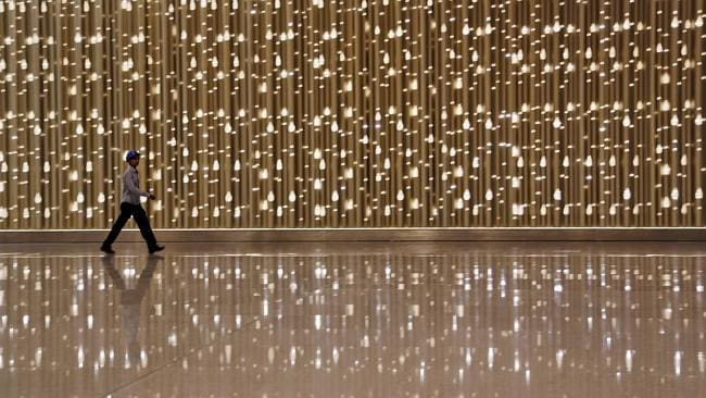 The interior of the new airport is all about glitz and glamour. Picture: AP