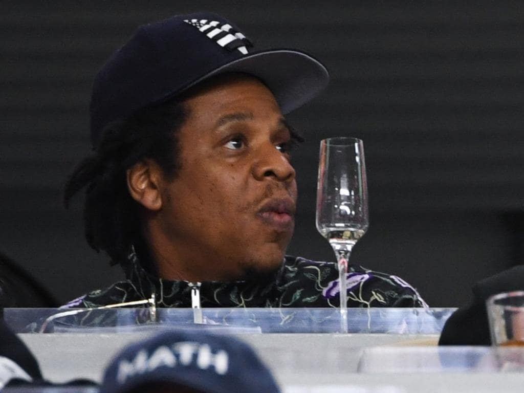 ONE TIME WEB USE ONLY - FEES APPLY - SPEAK TO YOUR PIC ED BEFORE REUSING -  Jay-Z and Beyonce Knowles watch Super Bowl LIV between the San Francisco 49ers and the Kansas City Chiefs held at Hard Rock Stadium in Miami Gardens, Florida on Feb. 2, 2020. (Photo by Anthony Behar/Sipa USA)