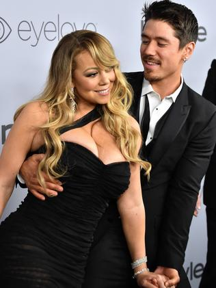Mariah Carey (L) and Bryan Tanaka. Picture: Getty