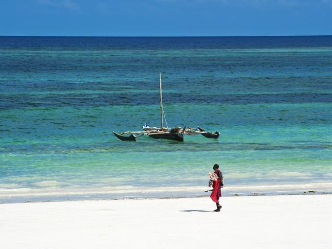 Picture-perfect Diani Beach.