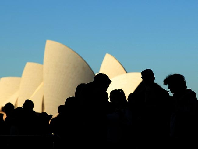 Unfortunately, even the Sydney Opera House doesn't make queuing any less tedious