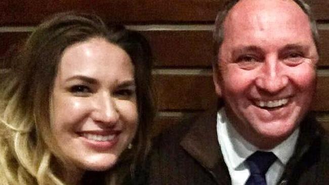 Vikki Campion and Barnaby Joyce.
