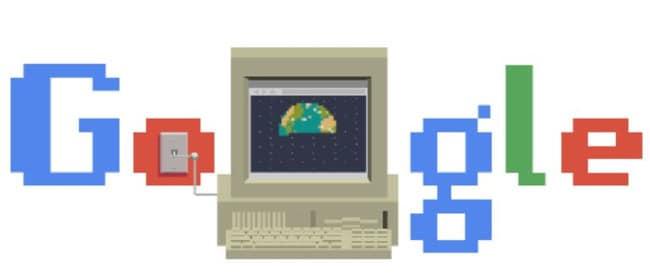 Google Doodle celebrates the birth of the web.